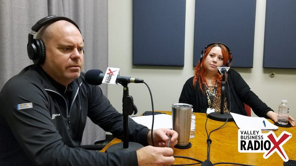Eric Olsen and Amanda Sett with Fasturtle Digital speaking on Valley Business Radio in Phoenix, Arizona
