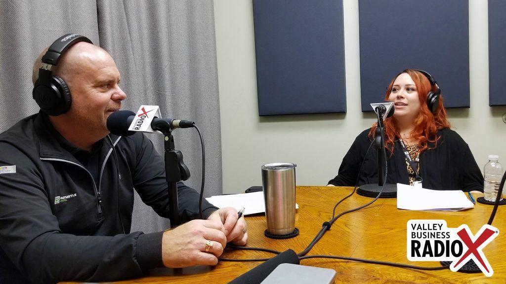 Eric Olsen and Amanda Sett with Fasturtle Digital talking on the Valley Business Radio show in Phoenix, Arizona