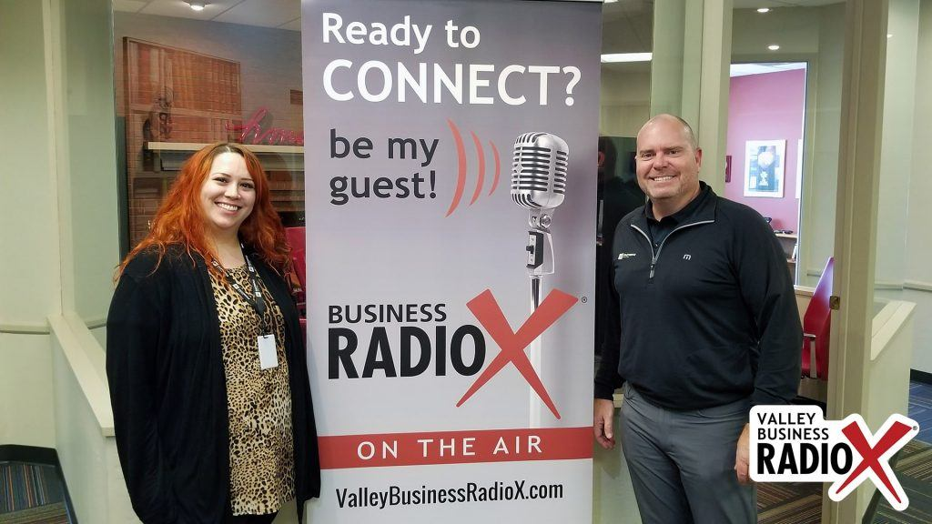 Eric Olsen and Amanda Sett with Fasturtle Digital visit the Valley Business Radio studio in Phoenix, Arizona