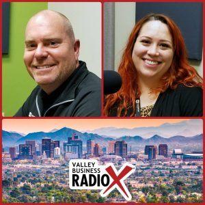 Eric Olsen and Amanda Sett with Fasturtle Digital broadcasting live from the Valley Business Radio studio in Phoenix, Arizona