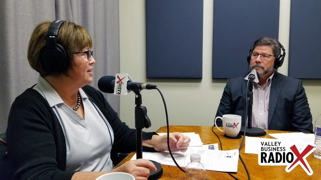 Brenda Martinez and Tom Davis with the Land Title Association of Arizona, Pioneer Title Agency, and Yavapai Title Agency speaking on Valley Business Radio in Phoenix, Arizona
