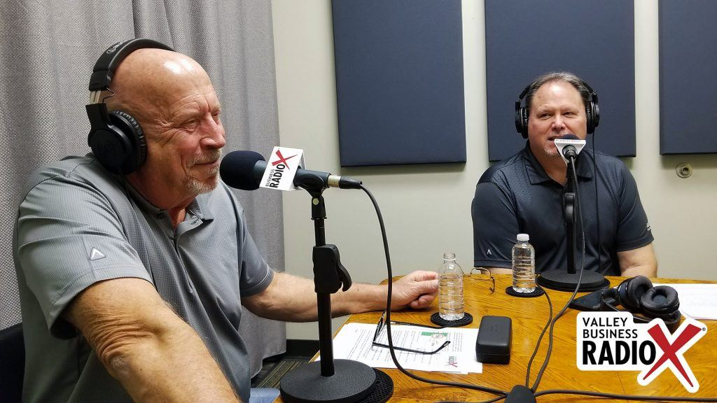 Mark Roden and Rick Ueable with Subway Kids & Sports of Arizona talking on Valley Business Radio in Phoenix, Arizona