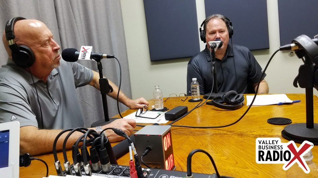 Rick Ueable and Mark Roden with Subway Kids & Sports of Arizona in the Valley Business Radio studio in Phoenix, Arizona