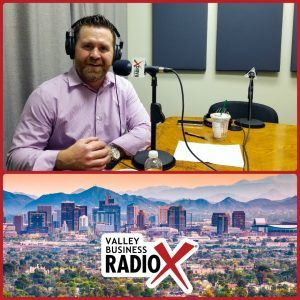 Trevor Wilde with Wilde Wealth Management Group broadcasting live from the Valley Business Radio studio in Phoenix, Arizona