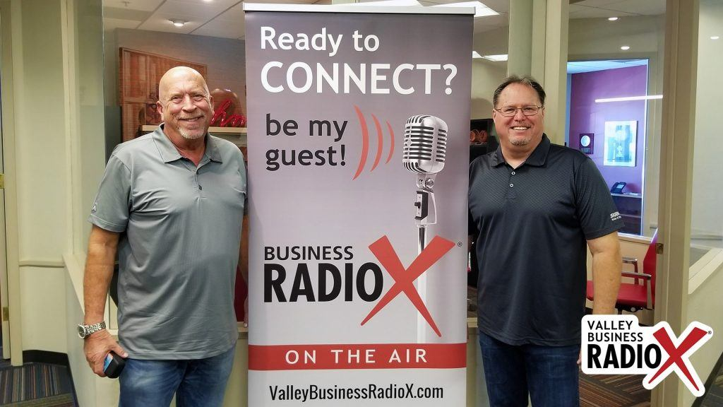 Mark Roden and Rick Ueable with Subway Kids & Sports of Arizona visit the Valley Business Radio studio in Phoenix, Arizona