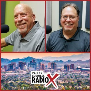 Rick Ueable and Mark Roden with Subway Kids & Sports of Arizona broadcasting live from the Valley Business Radio studio in Phoenix, Arizona