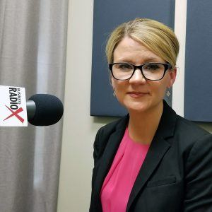 Andrea Claus with Bivens & Associates in the Valley Business Radio studio in Phoenix, Arizona