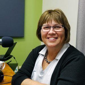 Brenda Martinez with the Land Title Association of Arizona and Yavapai Title Agency in the Valley Business Radio studio in Phoenix, Arizona