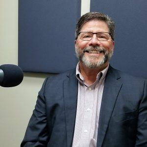 Tom Davis with the Land Title Association of Arizona and Pioneer Title Agency in the Valley Business Radio studio in Phoenix, Arizona
