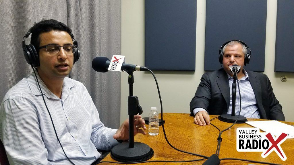 Khalid Al-Maskari and Dr. Roland Segal with HiMS speaking on Valley Business RadioX in Phoenix, Arizona