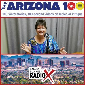 Abbie Fink with The Arizona 100 broadcasting live from the Valley Business RadioX studio in Phoenix, Arizona