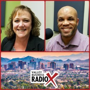 Jennifer Burge with WorldWise Coaching and Dr. Jeff McGee with Cross-Cultural Dynamics broadcasting live from the Valley Business RadioX studio in Phoenix, Arizona