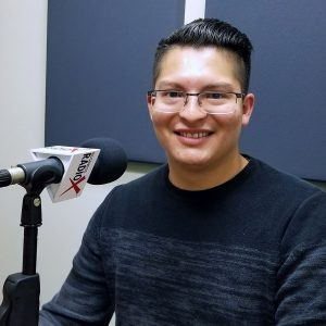 Joshua Rodriguez with Cresa in the studio at Valley Business RadioX in Phoenix, Arizona