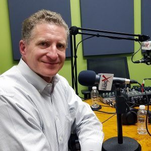 Kevin Hull with BMO Harris Bank in the studio at Valley Business RadioX in Phoenix, Arizona