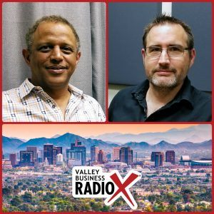 David McKenna with Axway and Patrick Gilbert with Compendia broadcasting live from the Valley Business RadioX studio in Phoenix, Arizona