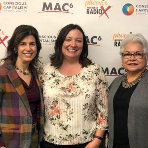 3C AMPLIFIED Kimberly Kur and Elisa de la Vara with Arizona Community Foundation