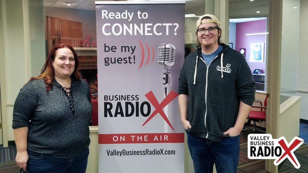 Amber Pechin and Reid Markel with Amplitude Media and PHX Startup Week visit the Valley Business Radio studio in Phoenix, Arizona