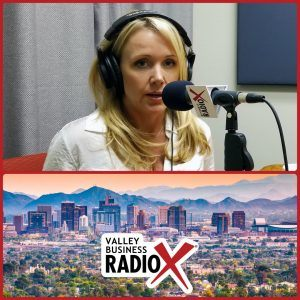 Shannon Quagliata with PRE Open House broadcasting live from the Valley Business Radio studio in Phoenix, Arizona