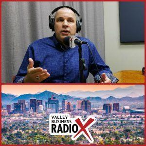 Restaurant consultant and trainer David Scott Peters broadcasting live from the Valley Business Radio studio in Phoenix, Arizona