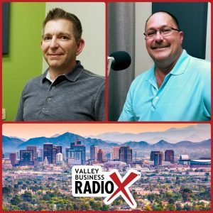 Thomas Lindsay with Accelerated and Bob Reish with Bob Reish Business Coaching broadcasting live from the Valley Business Radio studio in Phoenix, Arizona