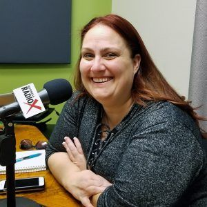 Amber Pechin with Amplitude Media and PHX Startup Week in the studio at Valley Business Radio in Phoenix, Arizona