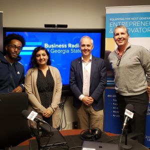 Tommy Marshall with Georgia Fintech Academy and Brian Jennings and Davisha Patel with Robinson College of Business and Daniel Hadgu with Ethiopay