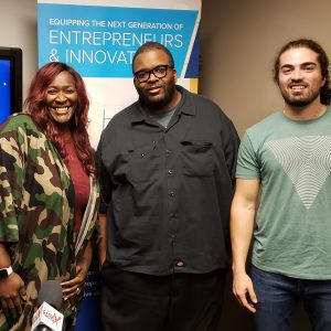 Elissa Russell with READI Consulting, Andrew Chambers with Pink's Barbecue and Yazdan Navabi with Food Upcycle