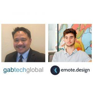 LAWGITIMATE Christopher Yap with Gabtech Global and Adam French with emote design