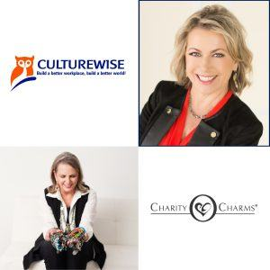 Mary Hall with CultureWise Consulting and Kay McDonald with Charity Charms E33