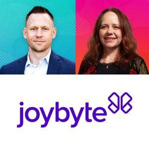 Ben Gerster and Triniti Burton with Joybyte