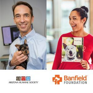 3C AMPLIFIED Dr Steven Hansen with Arizona Humane Society and Paula Little with Banfield Foundation