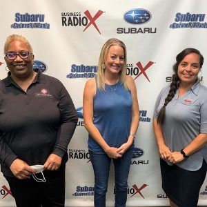 Denise Dancie of CPR Cell Phone Repair, Amber Lott of Paradigm Workhub, and Jeimy Arias of Lead with Coach Jeimy