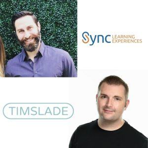 Author Tim Slade and Steven Cohen with SyncLX E9