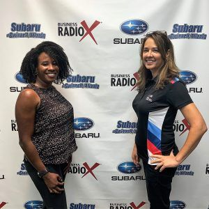 Julie Soltis with BMW Performance Center and Cindy King with King Law Firm