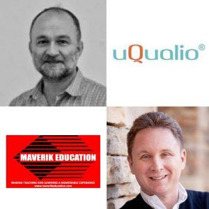Erik Francis with Maverik Education and Christian Nielson with uQualio® E10