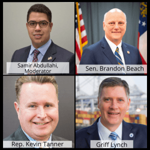 WellStar Chamber Luncheon Series: Georgia Transportation Update, From Port to Perimeter – Sen. Brandon Beach, Rep. Kevin Tanner, and Griff Lynch, Georgia Port Authority