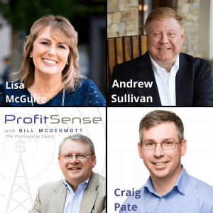 ProfitSense with Bill McDermott, Episode 14: Lisa McGuire, Marketing Consultant; Andrew Sullivan, Sullivan and Schlieman Wealth Management; and Craig Pate, Wilson Lewis