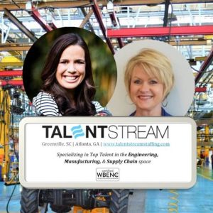Jessica Clayton and Lynette Mathews with TalentStream