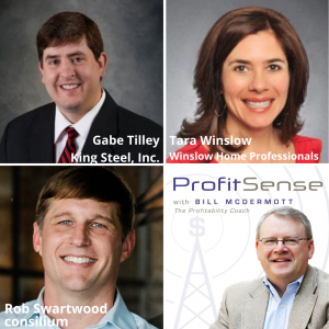 Gabe Tilley, King Steel, Inc., Tara Winslow, Winslow Home Professionals, and Rob Swartwood, consilium (ProfitSense with Bill McDermott, Episode 17)