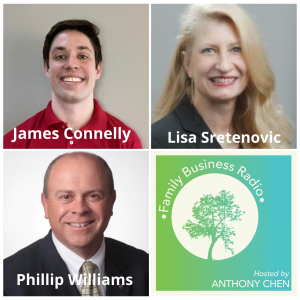 James Connelly, Results Rehab, Lisa Sretenovic, Visionating, LLC, andPhillip Williams, P & P Business Solutions (Family Business Radio, Episode 18)