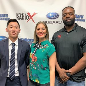 Dr. Rebecca Sarlea with Refresh Chiropractic, Daniel Hwang with Twenty Five Marketing, and Brian Hicks with Camp Gladiator