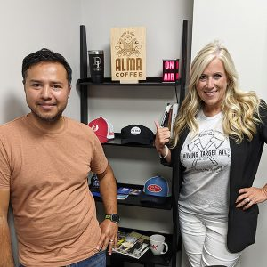 Kara Frenkel from Moving Target ATL- Mobile Axe Throwing and Oscar Velez from Three Brothers Painting, Inc.