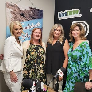 Patty Ponder, Candi Hannigan, and Jennifer Coleman from Aroundabout Local Media