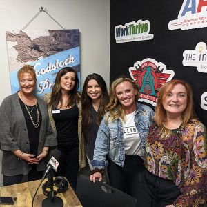 Ramona Long from Money Pages, Maggie Grayeski from ServiceWise Electric, and Chelsea Winters and Jessica Winters from Terminus Construction Group