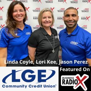 LGE Community Credit Union:  Linda Coyle, Lori Kee, and Jason Perez
