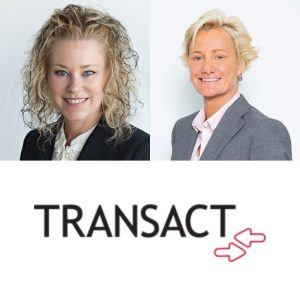 Nancy Langer and Laura Newell-McLaughlin with Transact Campus