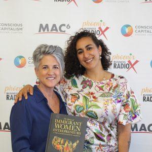 Saloua Ibaline with Immigrant Women Entrepreneurs